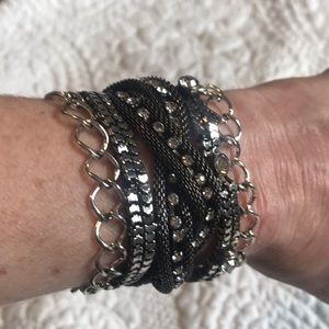 Jewelry - Cute black and silver bracelet from the Buckle.